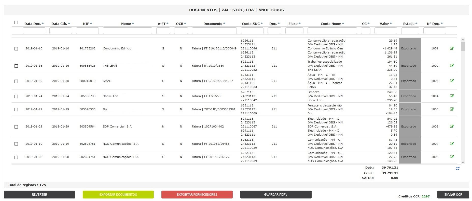 Automatização da recolha e envio dos documentos para o Cliente